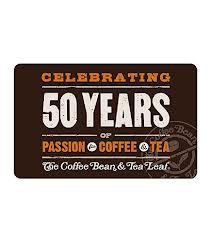 Coffee Bean and Tea Leaf 50 years